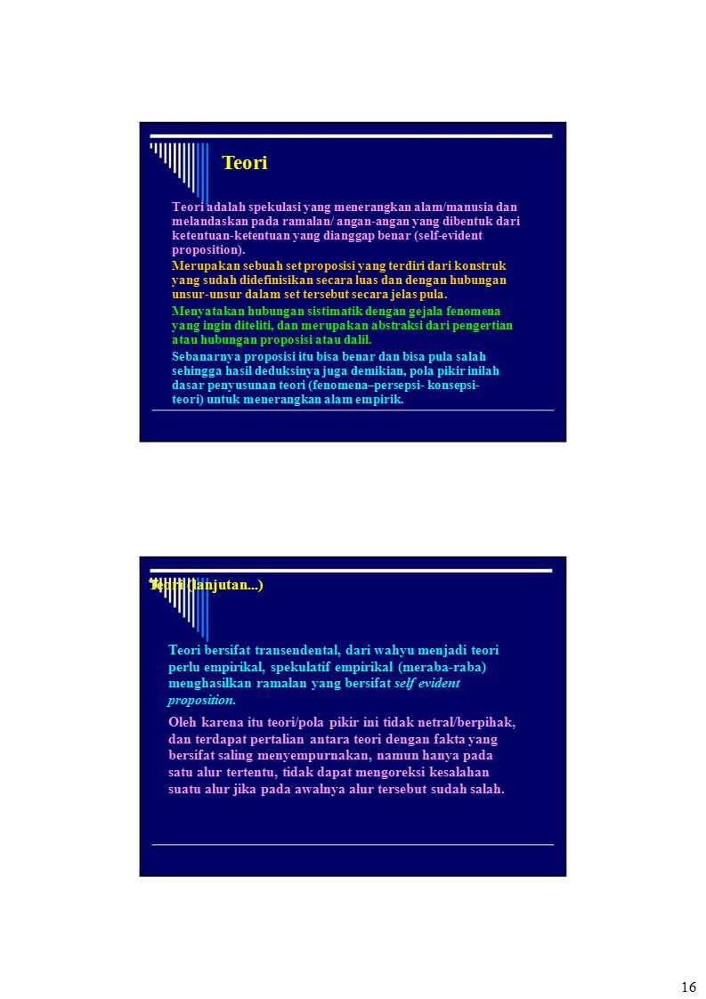 Teori Teori (lanjutan...)