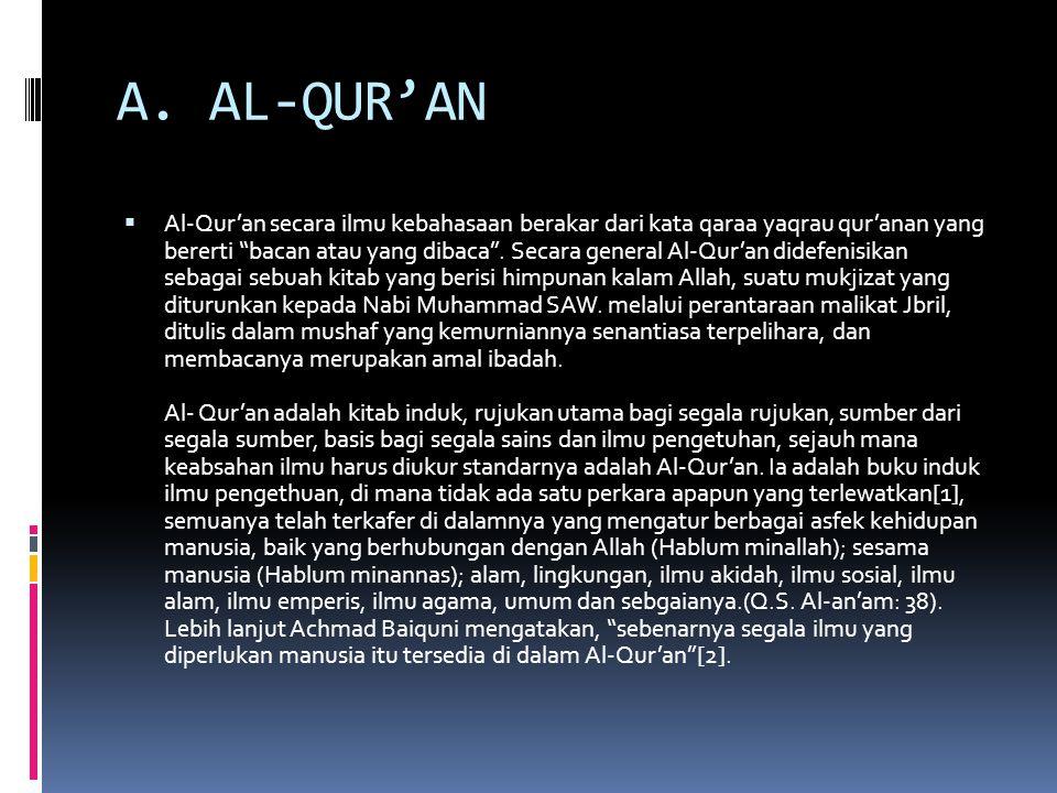 A. AL-QUR'AN