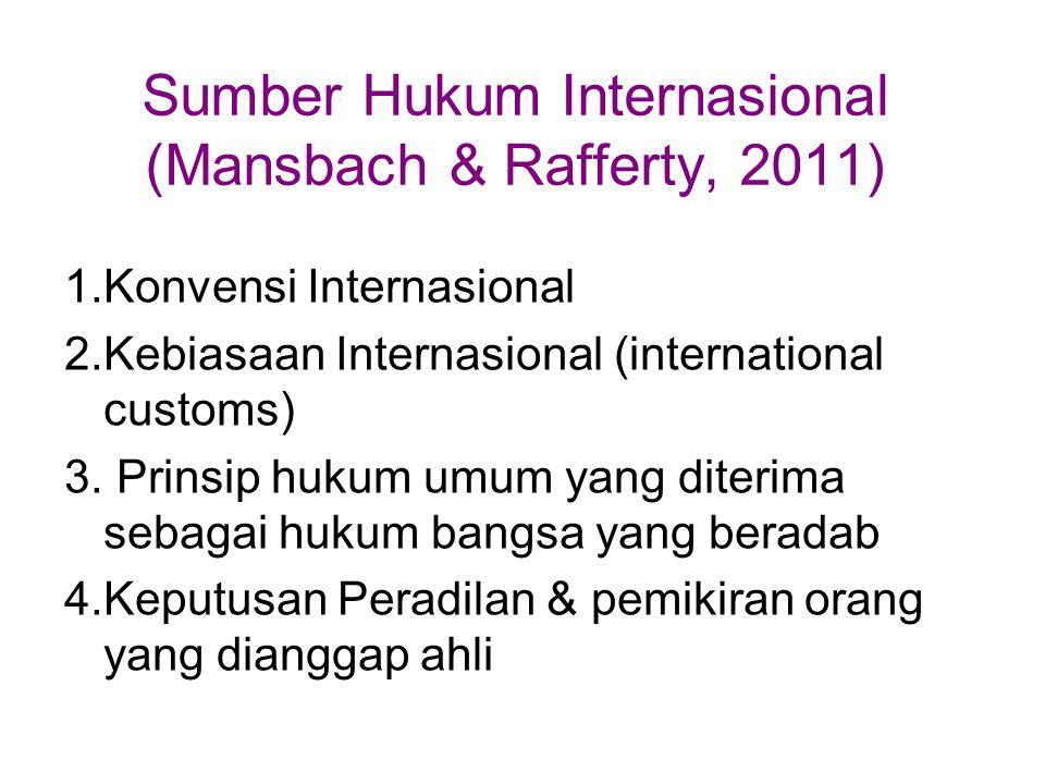 Sumber Hukum Internasional (Mansbach & Rafferty, 2011)