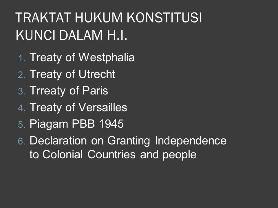 TRAKTAT HUKUM KONSTITUSI KUNCI DALAM H.I.