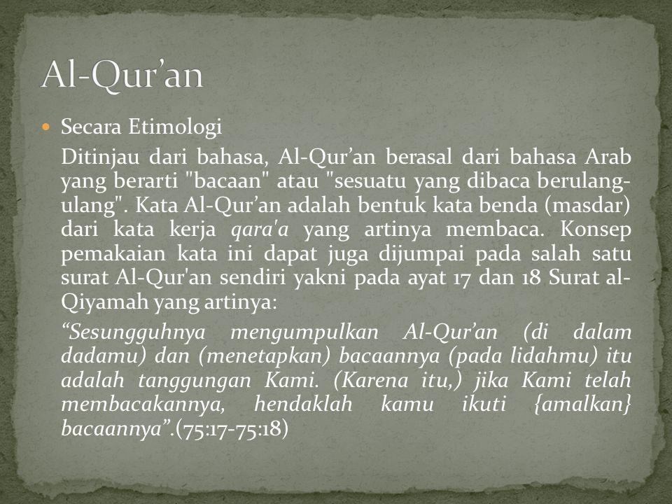 Al-Qur'an Secara Etimologi