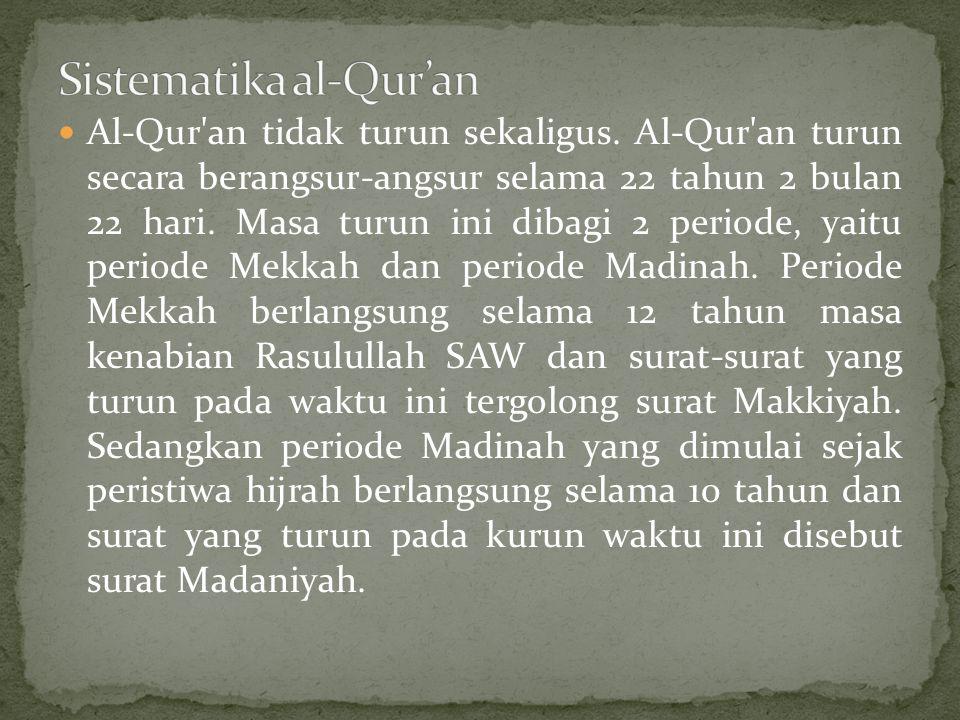 Sistematika al-Qur'an