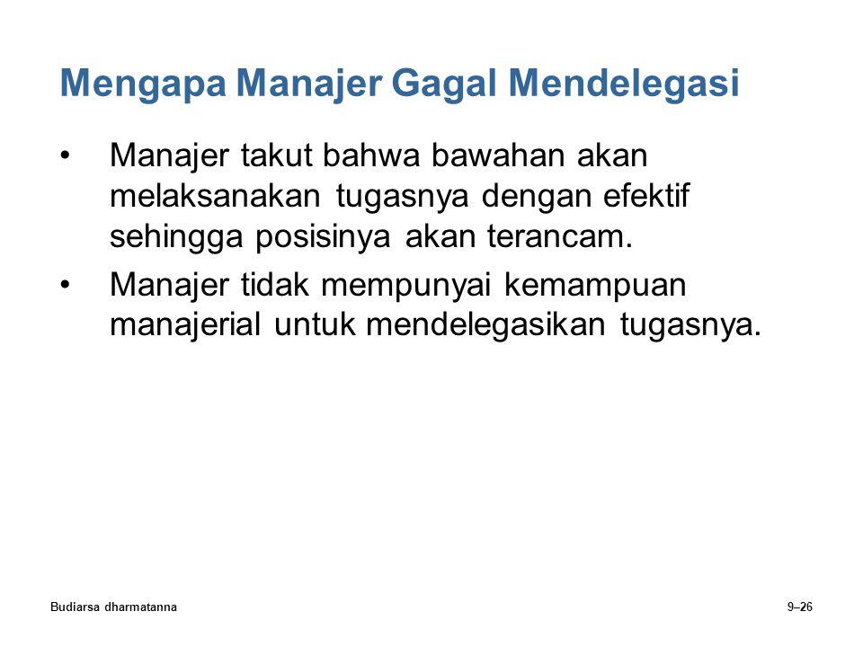 Mengapa Manajer Gagal Mendelegasi