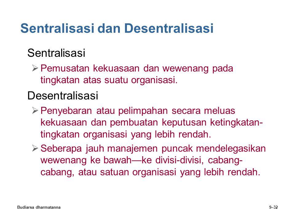 Sentralisasi dan Desentralisasi