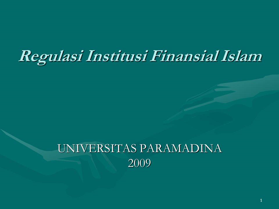 Regulasi Institusi Finansial Islam