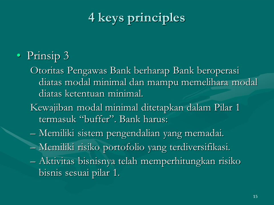 4 keys principles Prinsip 3