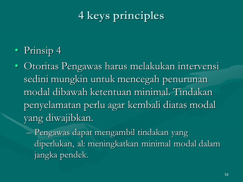 4 keys principles Prinsip 4