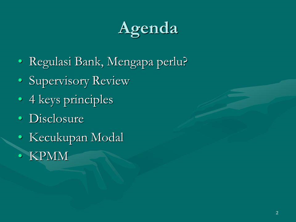 Agenda Regulasi Bank, Mengapa perlu Supervisory Review