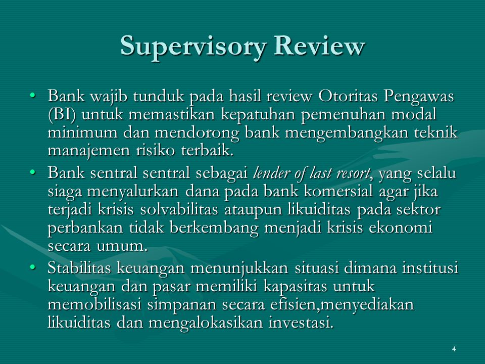 Supervisory Review