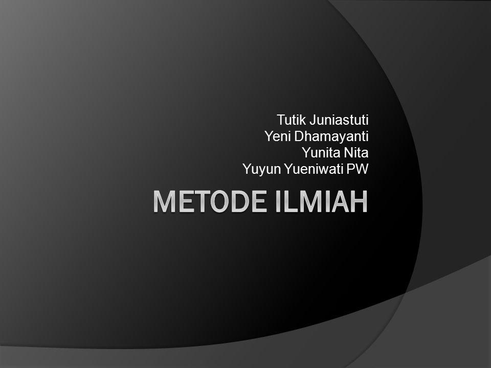 Tutik Juniastuti Yeni Dhamayanti Yunita Nita Yuyun Yueniwati PW