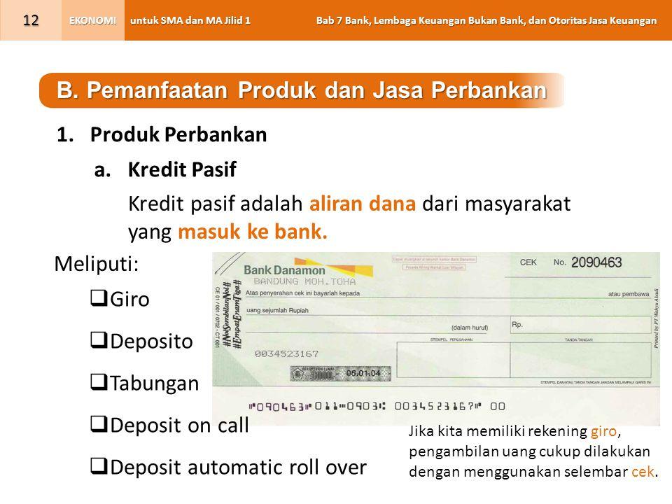 B. Pemanfaatan Produk dan Jasa Perbankan