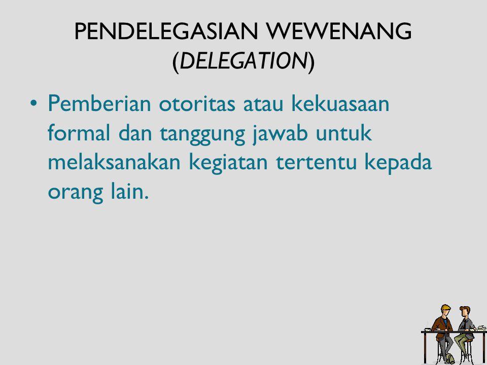 PENDELEGASIAN WEWENANG (DELEGATION)