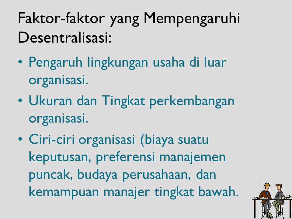 Faktor-faktor yang Mempengaruhi Desentralisasi: