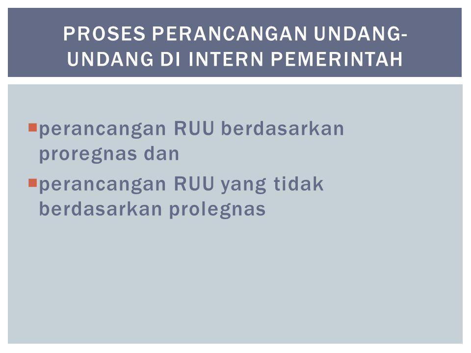 proses perancangan undang-undang di intern pemerintah
