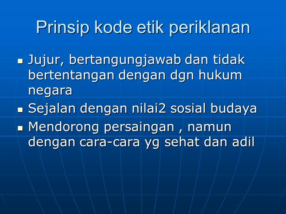 Prinsip kode etik periklanan