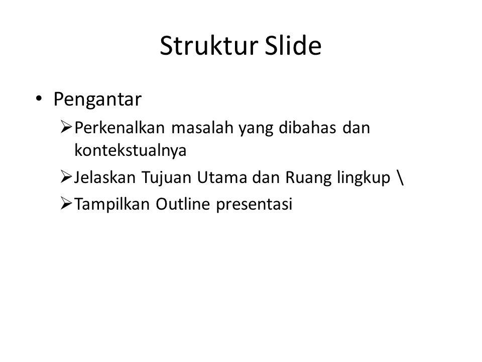 Struktur Slide Pengantar
