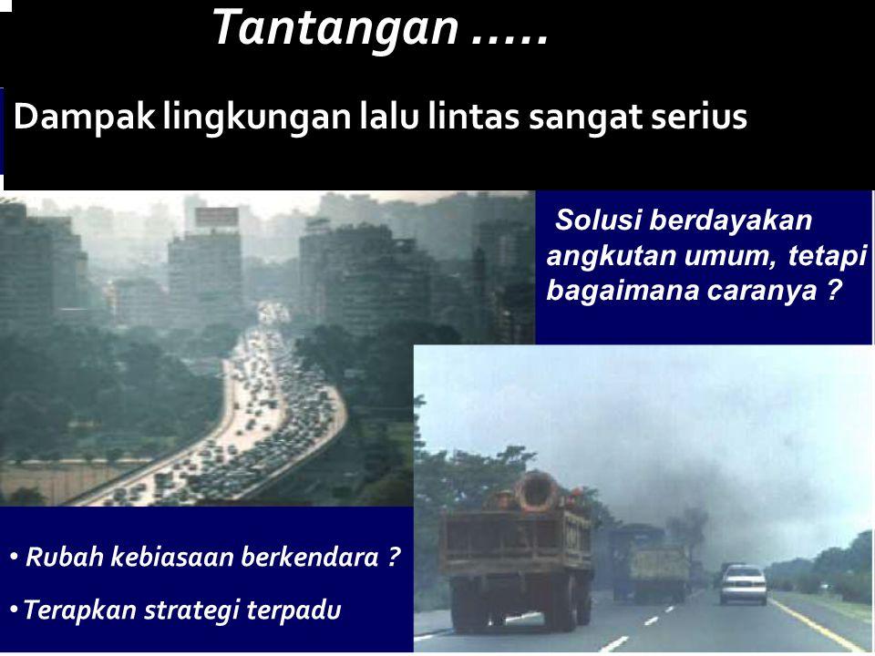 Tantangan ..... Dampak lingkungan lalu lintas sangat serius
