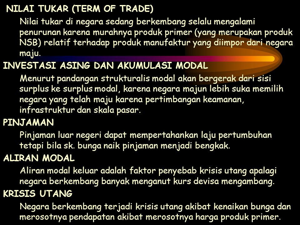 NILAI TUKAR (TERM OF TRADE)