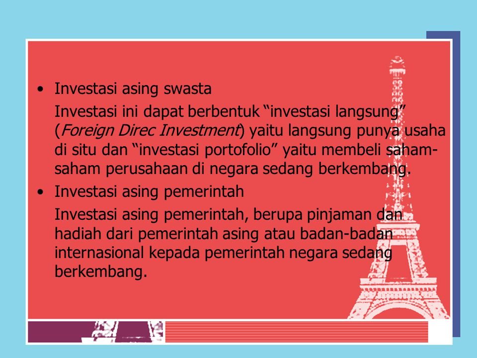 Investasi asing swasta