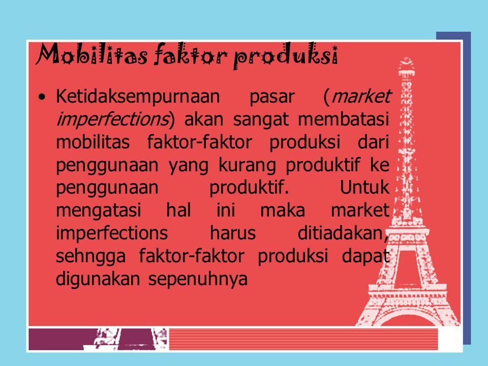 Mobilitas faktor produksi