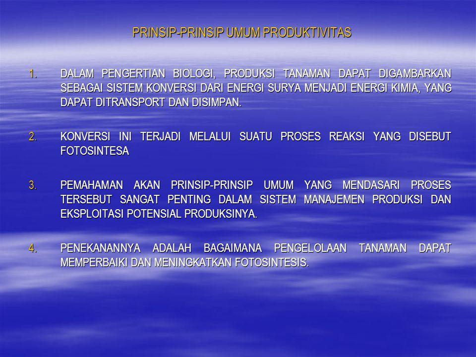 PRINSIP-PRINSIP UMUM PRODUKTIVITAS