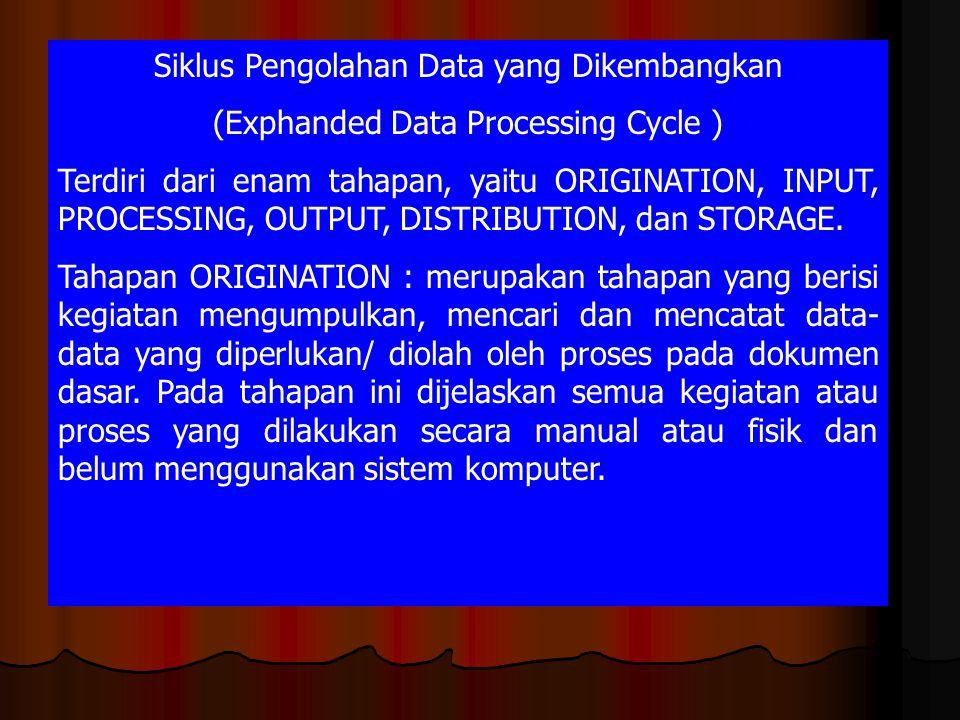 Siklus Pengolahan Data yang Dikembangkan