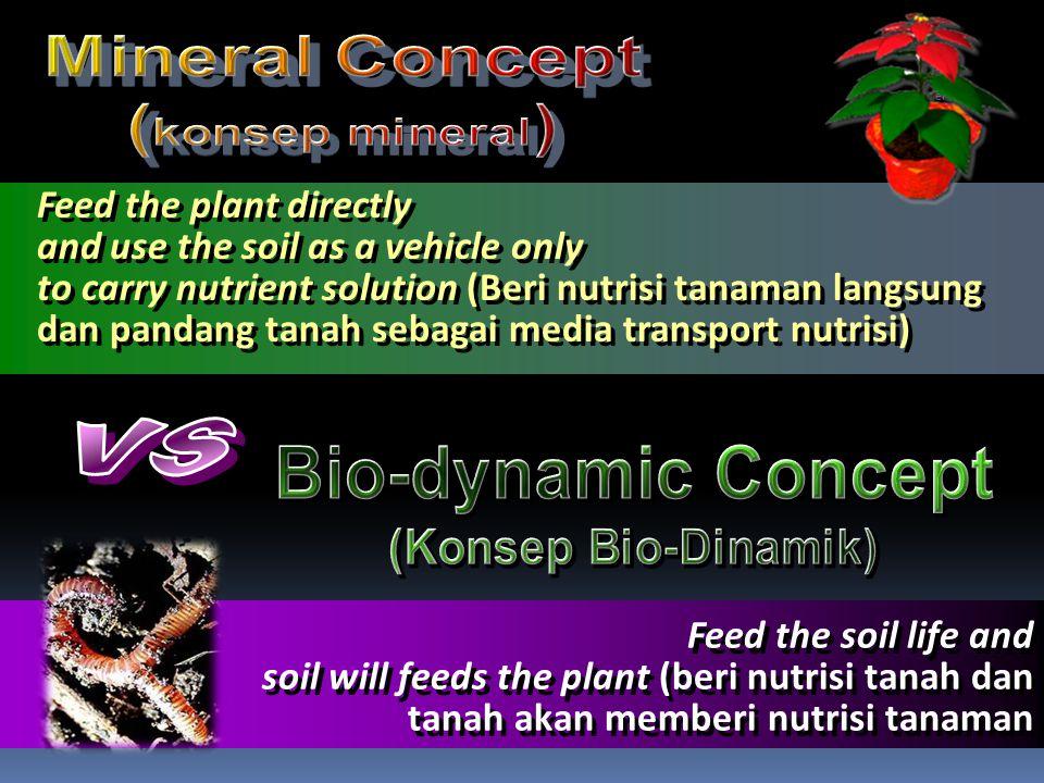 Mineral concept vs Biodynamic