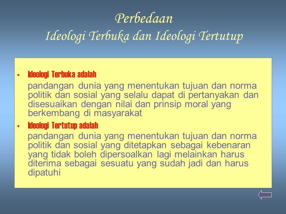Perbedaan Ideologi Terbuka dan Ideologi Tertutup