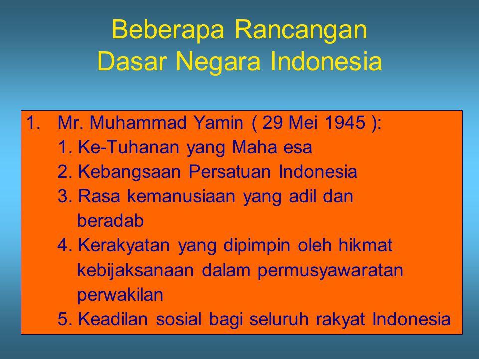 Beberapa Rancangan Dasar Negara Indonesia