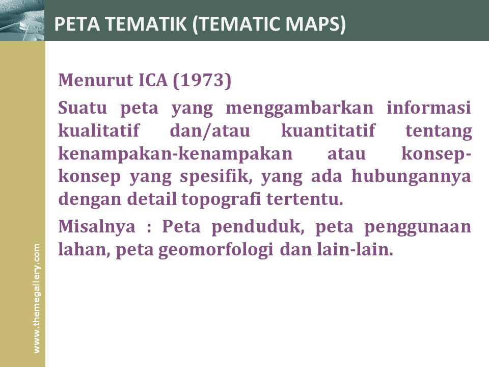 PETA TEMATIK (TEMATIC MAPS)