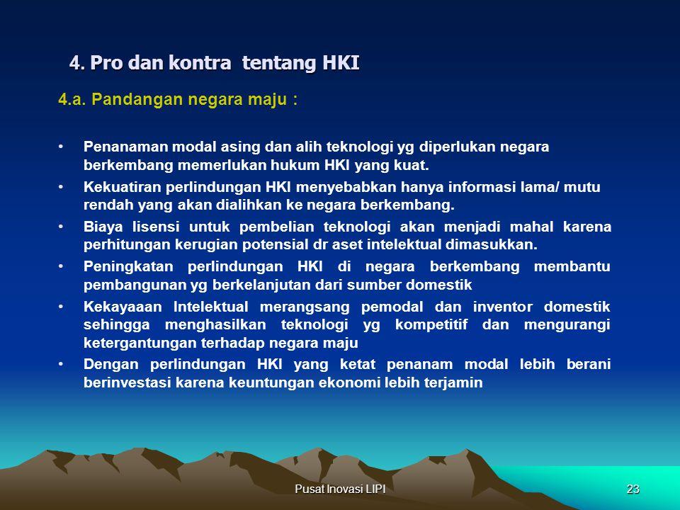 4. Pro dan kontra tentang HKI