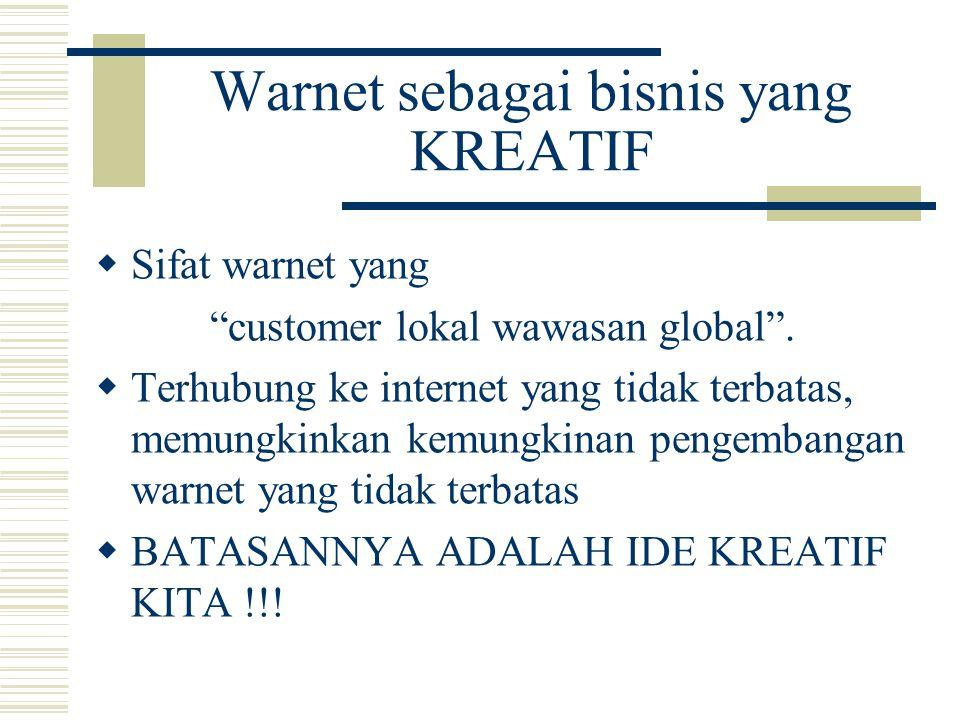 Warnet sebagai bisnis yang KREATIF
