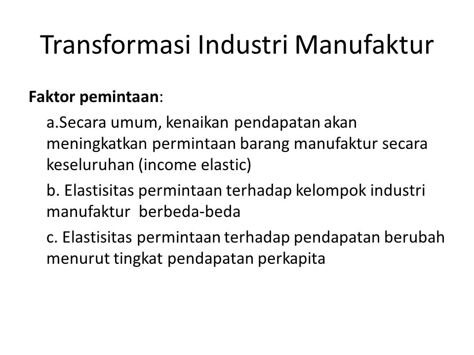 Transformasi Industri Manufaktur