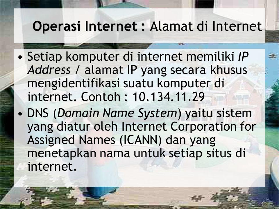 Operasi Internet : Alamat di Internet