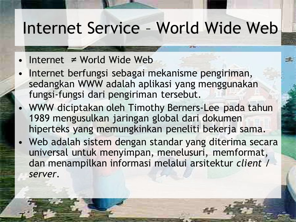Internet Service – World Wide Web