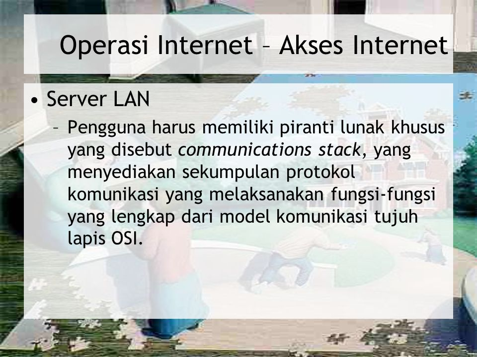 Operasi Internet – Akses Internet