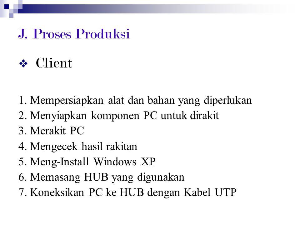 J. Proses Produksi Client