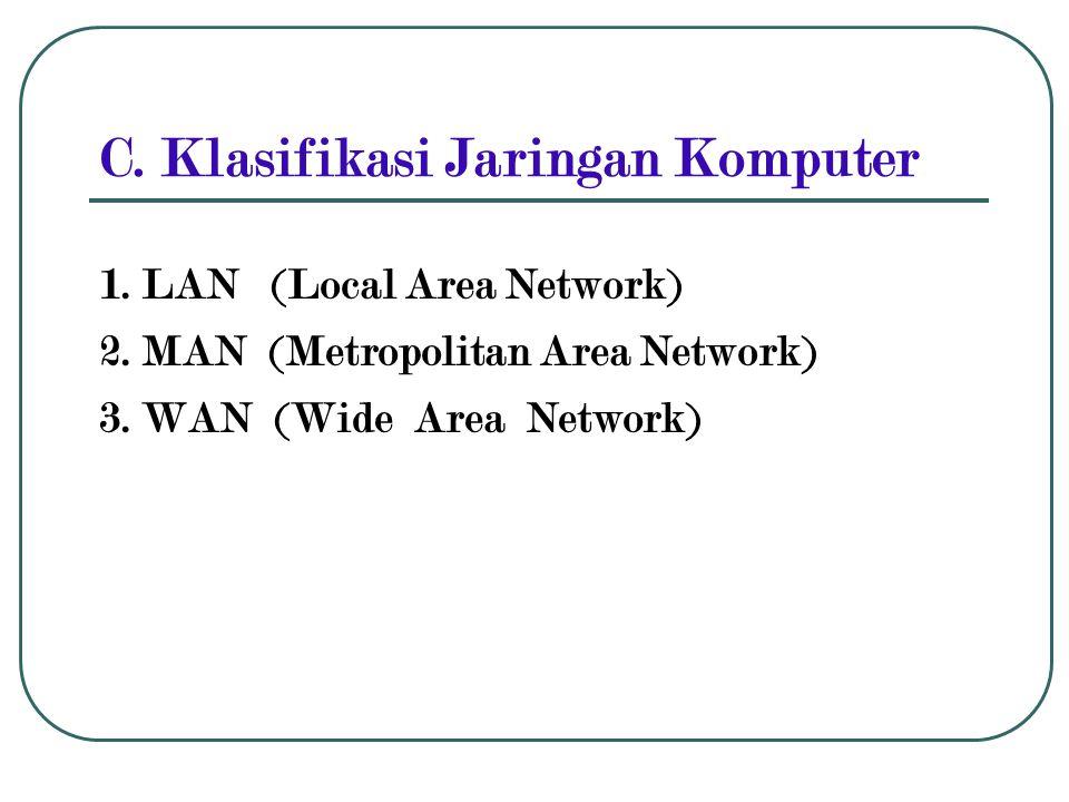 C. Klasifikasi Jaringan Komputer