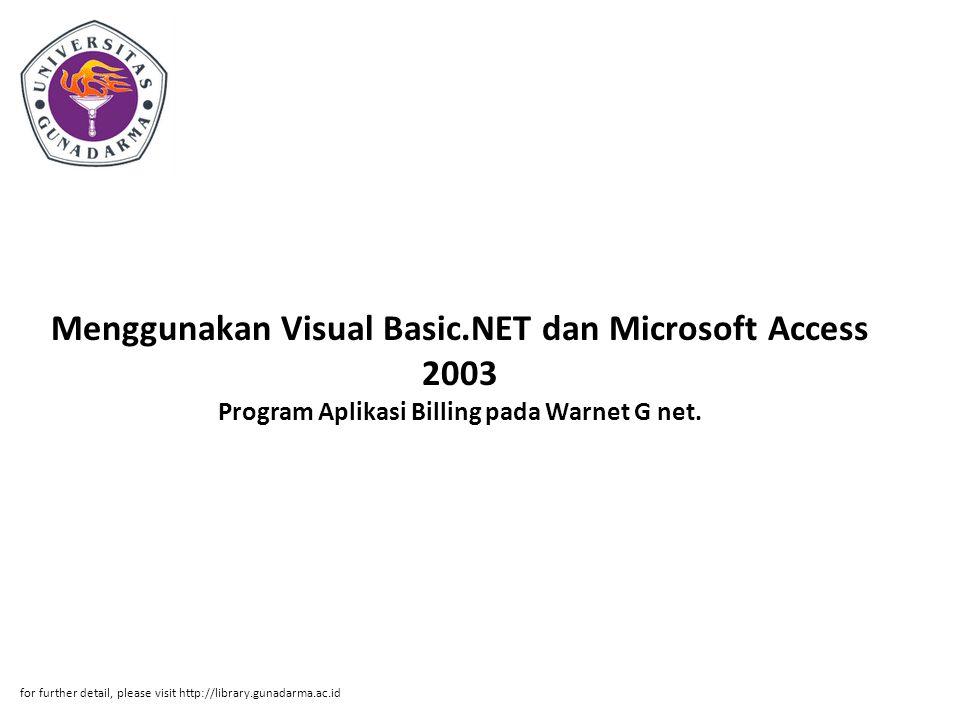 Menggunakan Visual Basic
