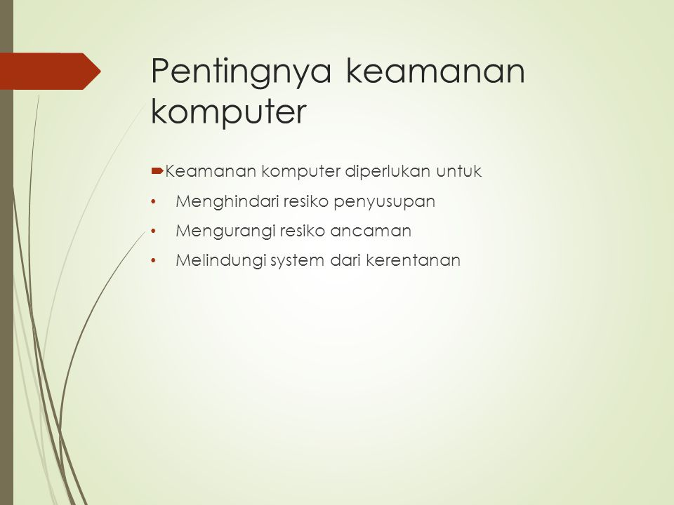 Pentingnya keamanan komputer