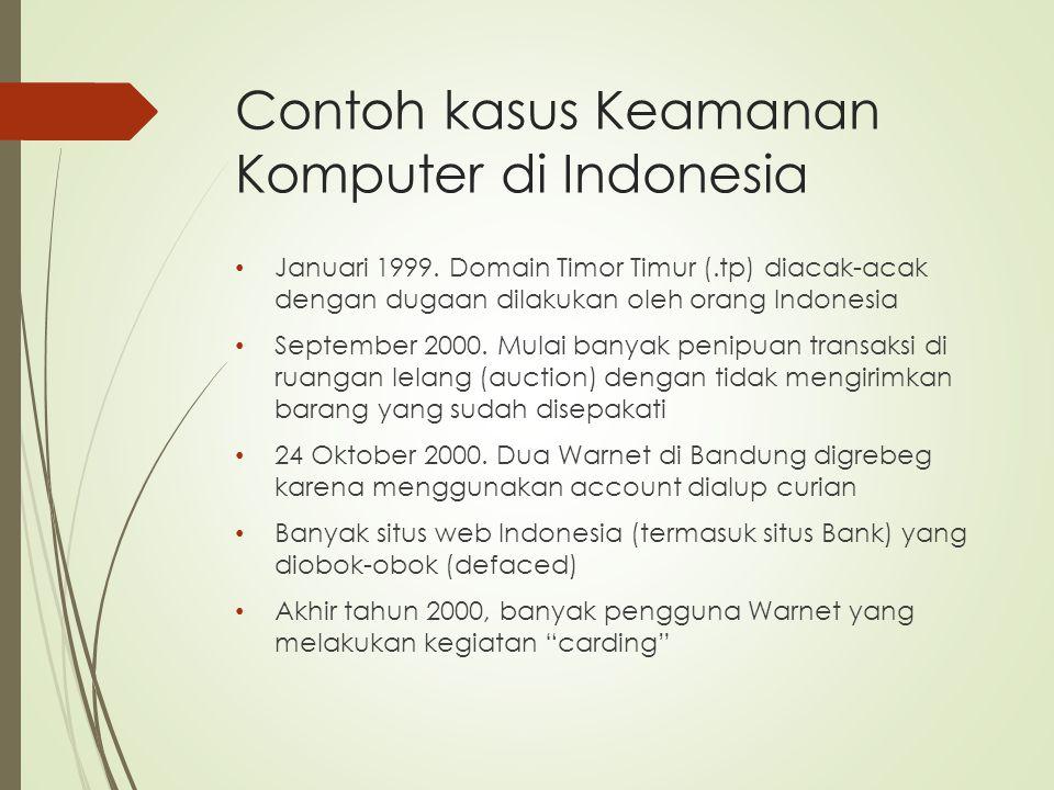 Contoh kasus Keamanan Komputer di Indonesia