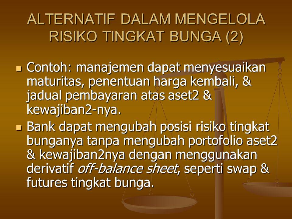 ALTERNATIF DALAM MENGELOLA RISIKO TINGKAT BUNGA (2)