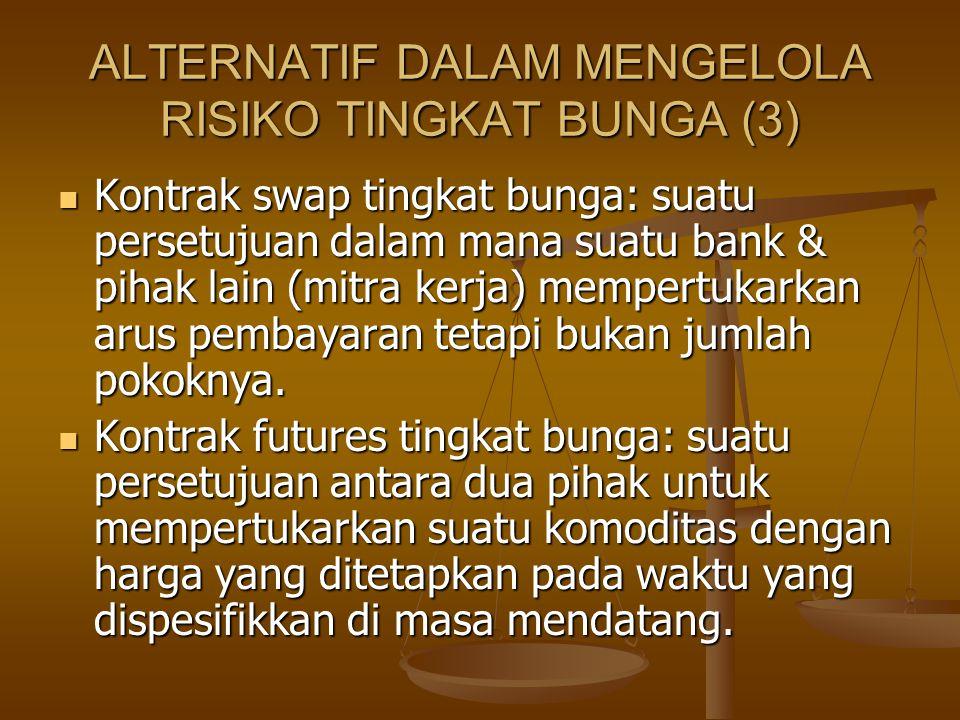 ALTERNATIF DALAM MENGELOLA RISIKO TINGKAT BUNGA (3)