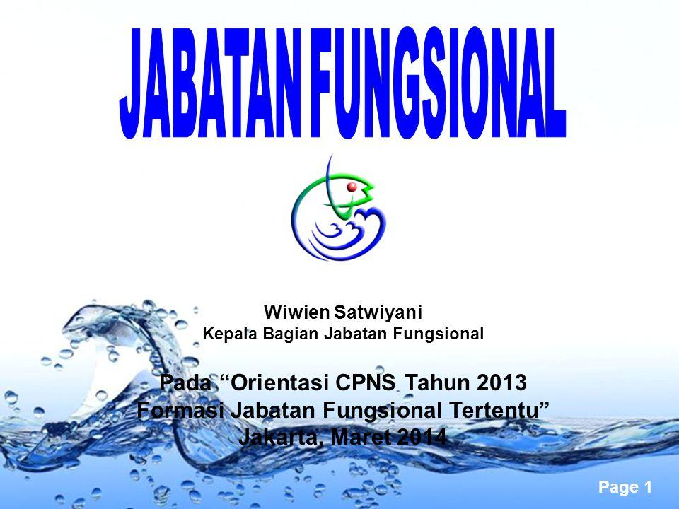 Formasi Jabatan Fungsional Tertentu Jakarta, Maret 2014