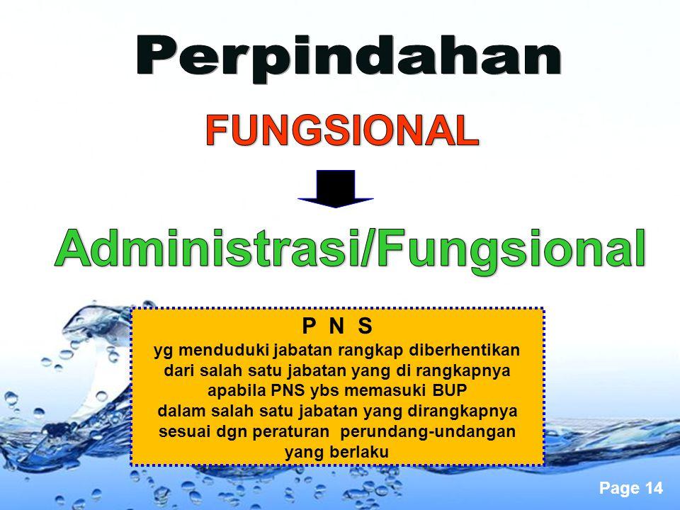 Administrasi/Fungsional