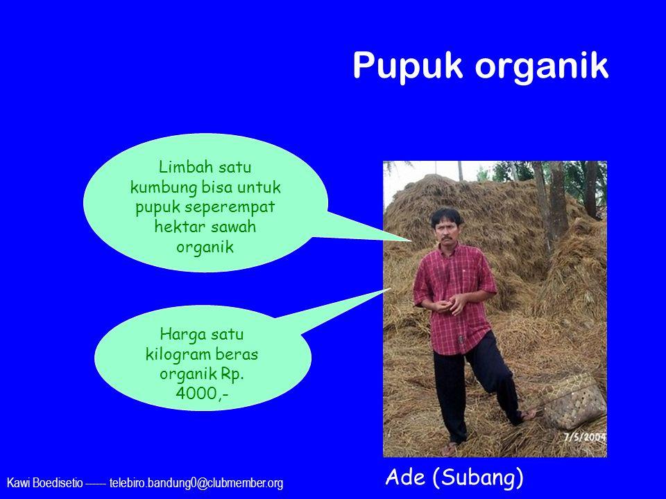 Pupuk organik Ade (Subang)