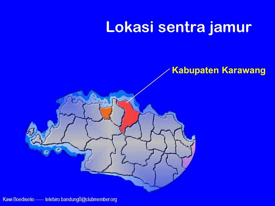 Lokasi sentra jamur Kabupaten Karawang