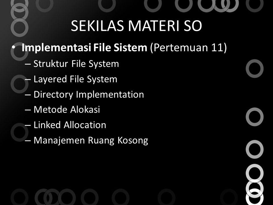 SEKILAS MATERI SO Implementasi File Sistem (Pertemuan 11)