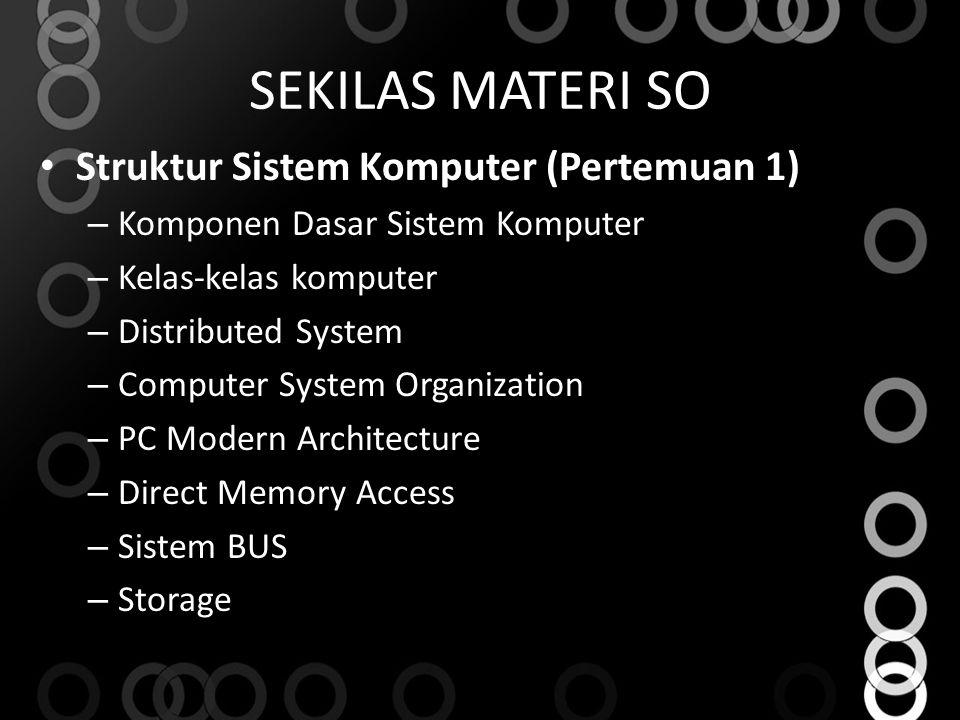 SEKILAS MATERI SO Struktur Sistem Komputer (Pertemuan 1)