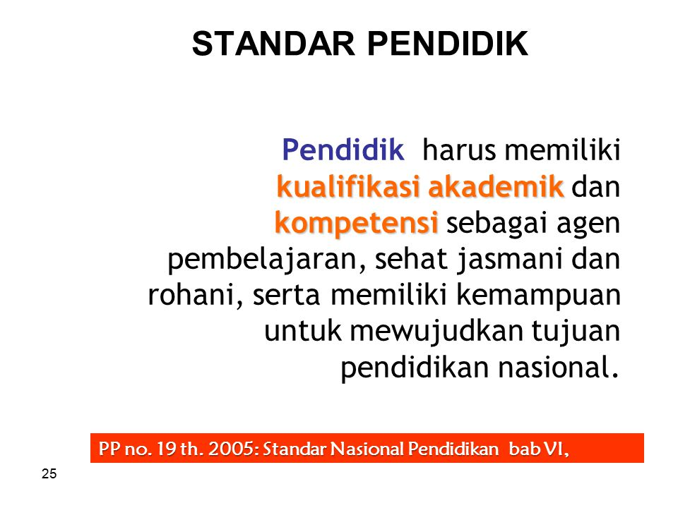 STANDAR PENDIDIK